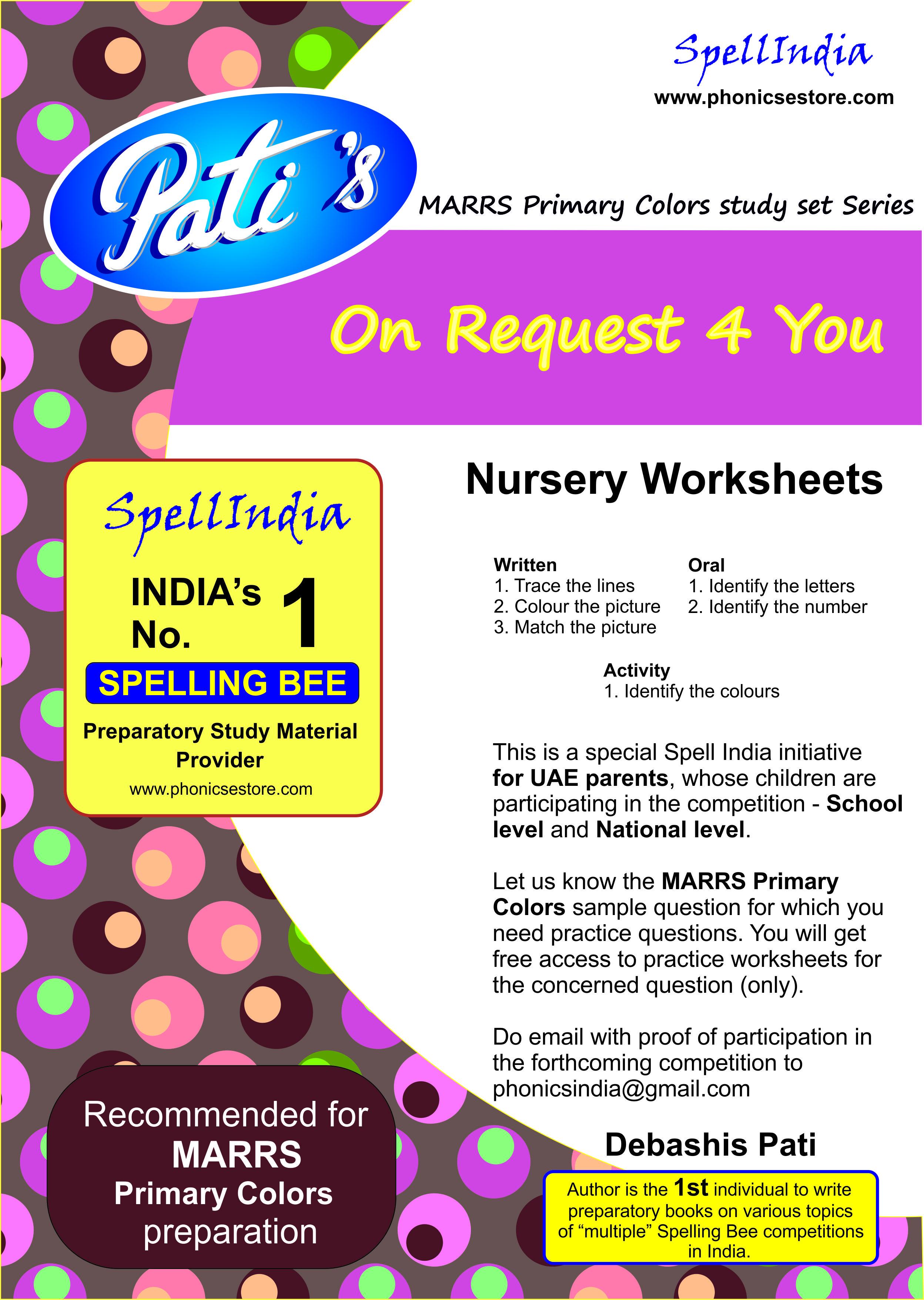 Nursery Exam Paper English